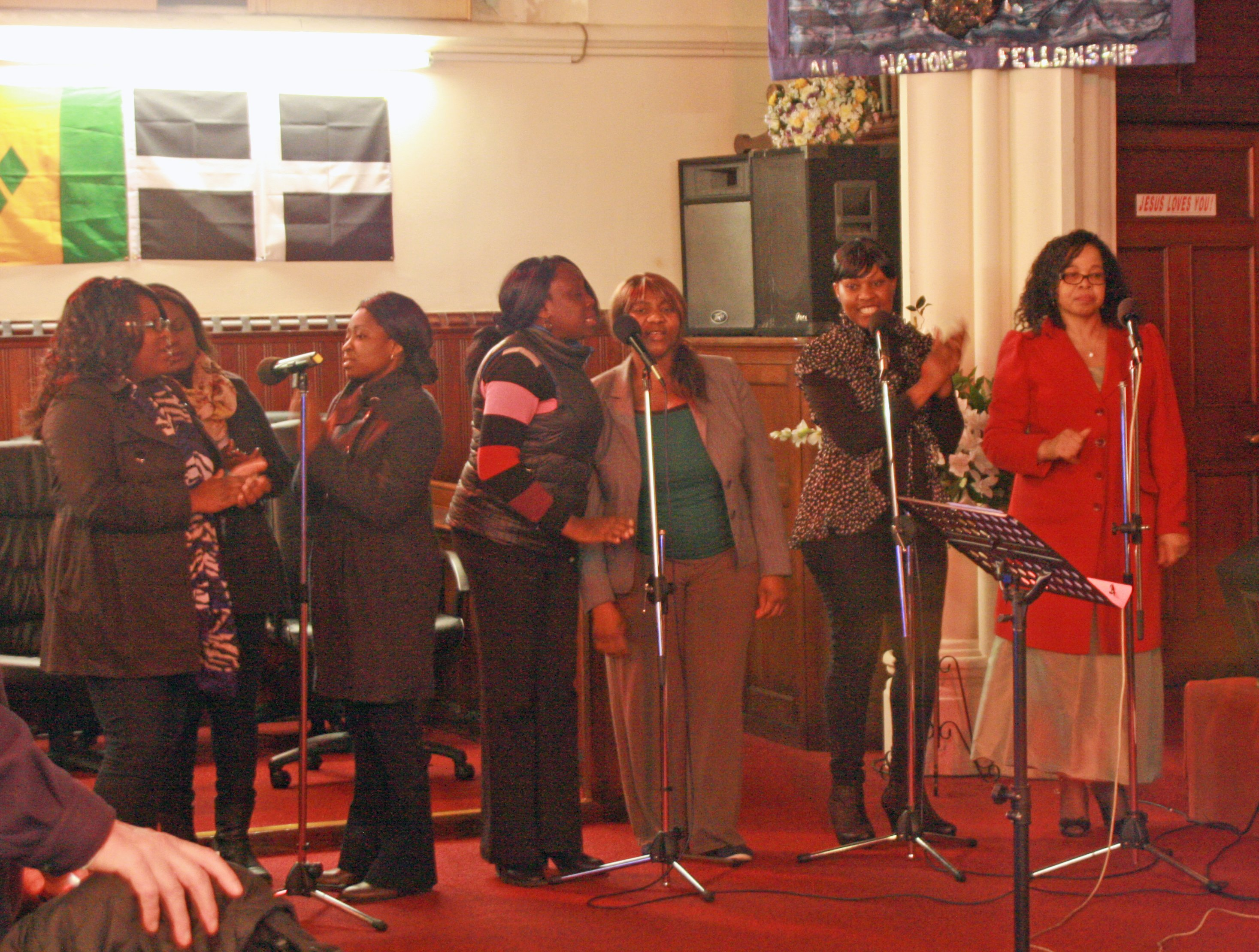 Choir at All Nations Church